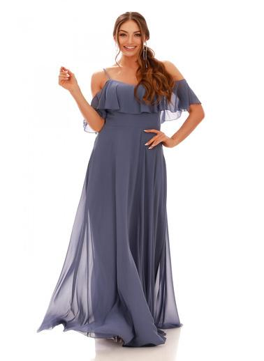 6ixty8ight Uzun Abiye Elbise Renkli